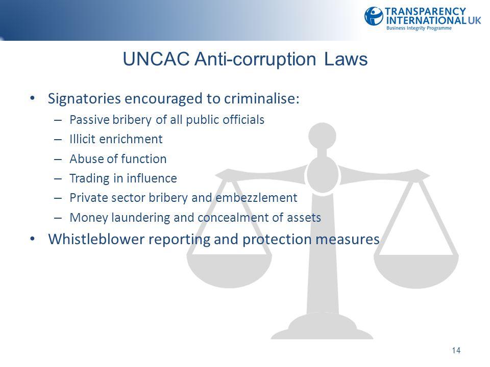 UNCAC Anti-corruption Laws