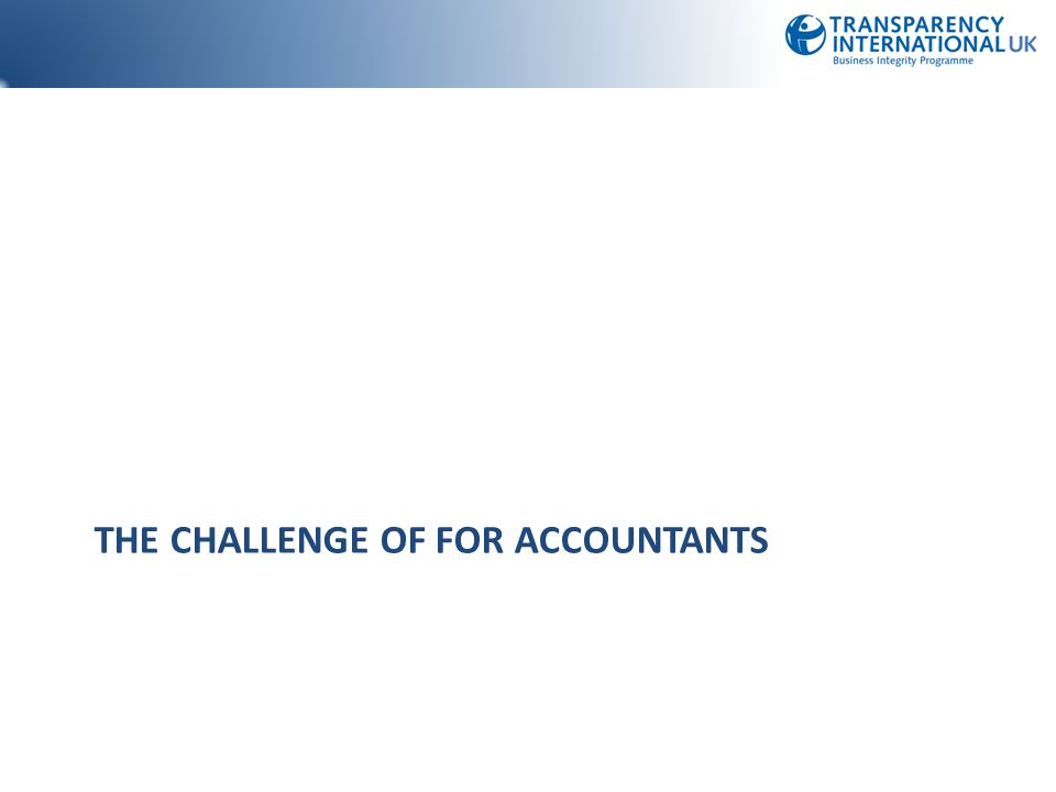 The Challenge of for accountants
