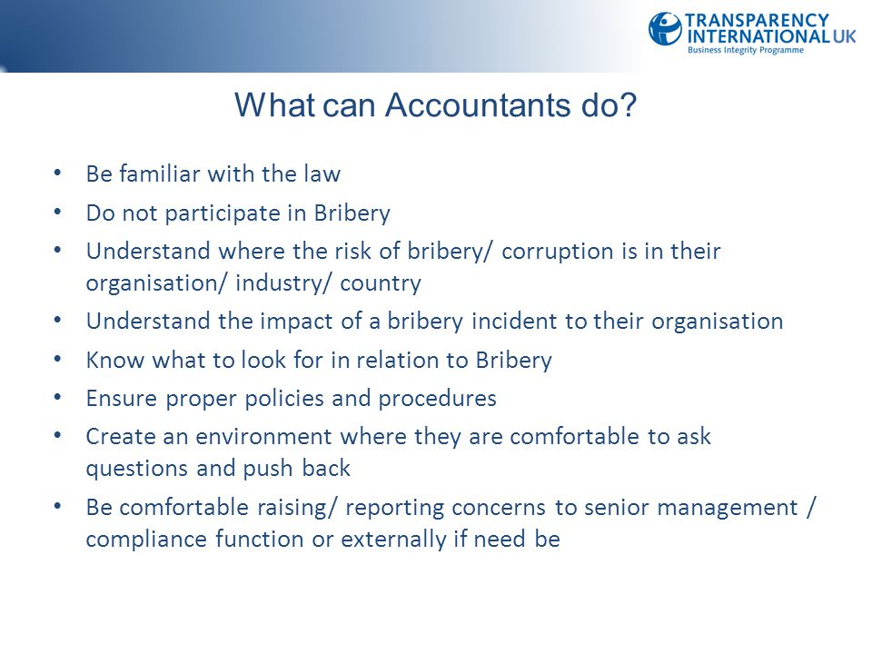 What can Accountants do