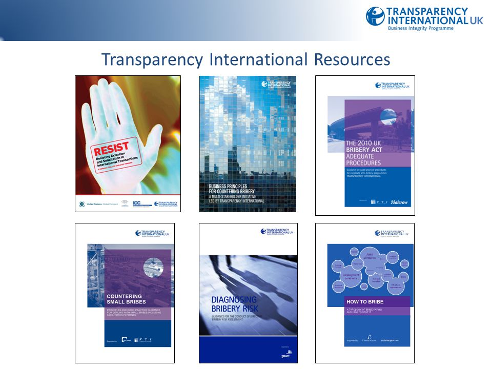 Transparency International Resources