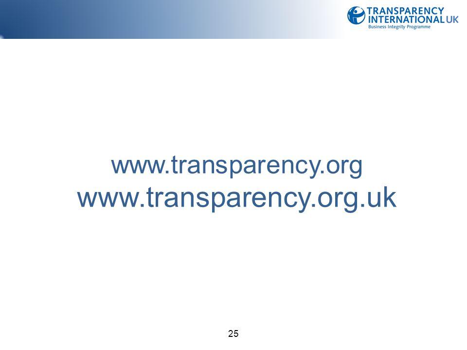 www.transparency.org www.transparency.org.uk