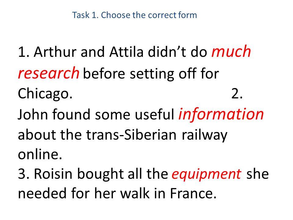 Task 1. Choose the correct form 1