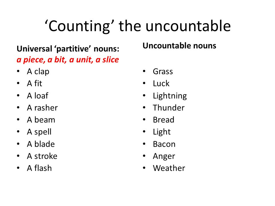 'Counting' the uncountable