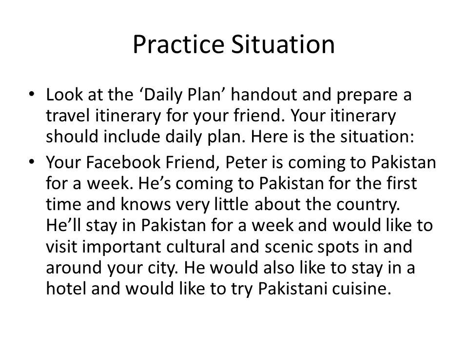 Practice Situation