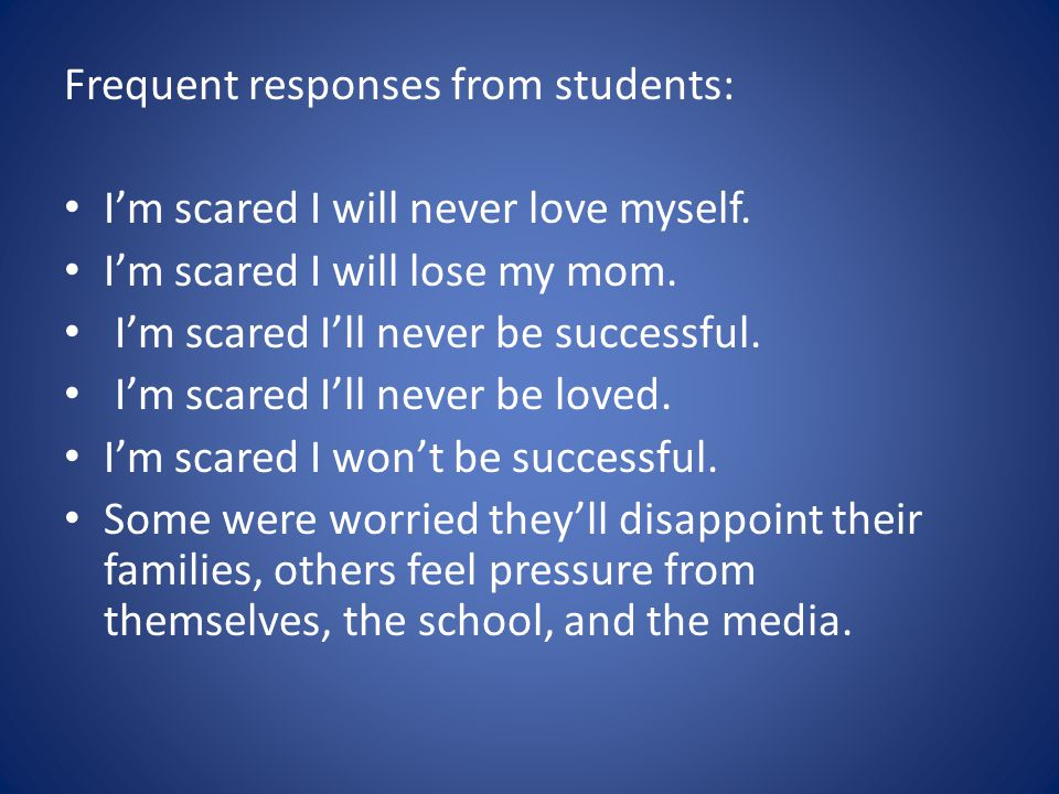 Frequent responses from students: