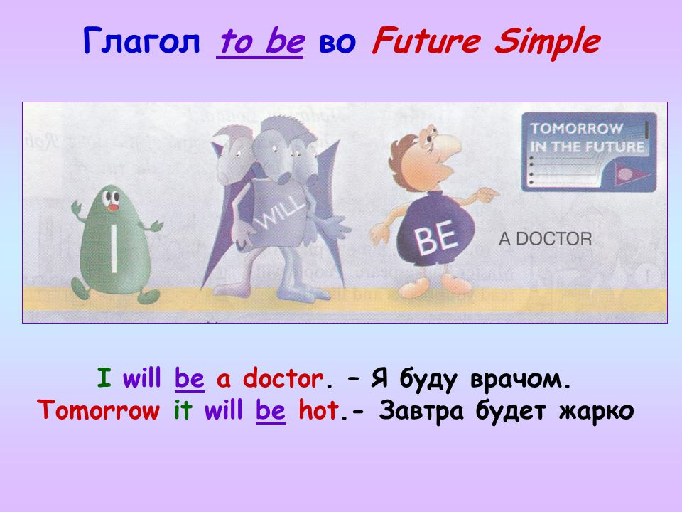 Глагол to be во Future Simple