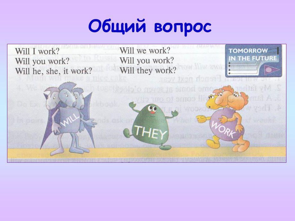 Общий вопрос Отправляемся с глаголом work на улицу Общий вопрос.