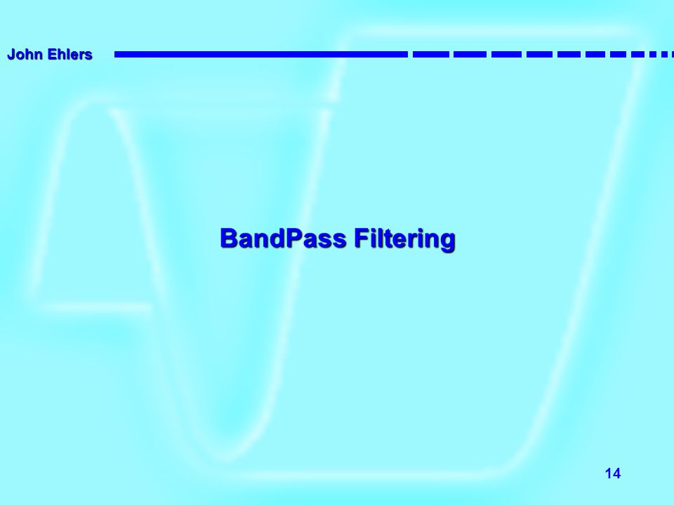 BandPass Filtering