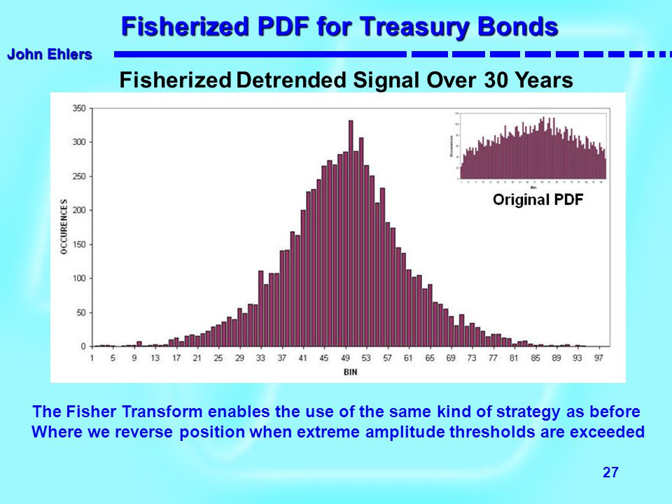 Fisherized PDF for Treasury Bonds
