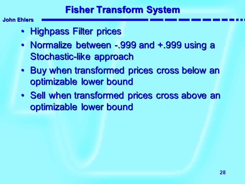Fisher Transform System
