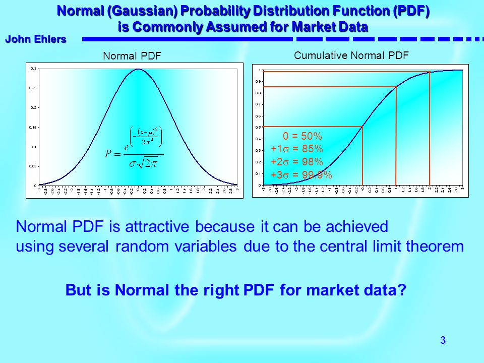 Normal PDF is attractive because it can be achieved