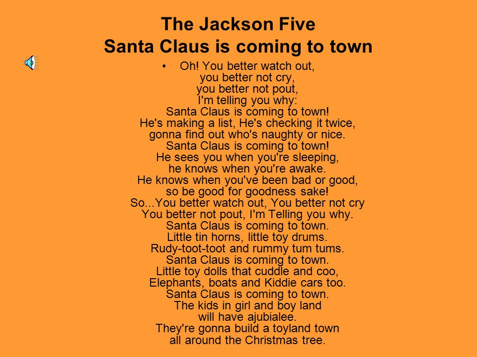The Jackson Five Santa Claus is coming to town