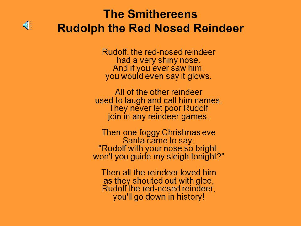 The Smithereens Rudolph the Red Nosed Reindeer