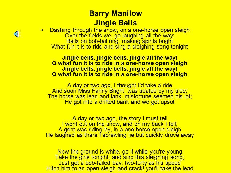 Barry Manilow Jingle Bells