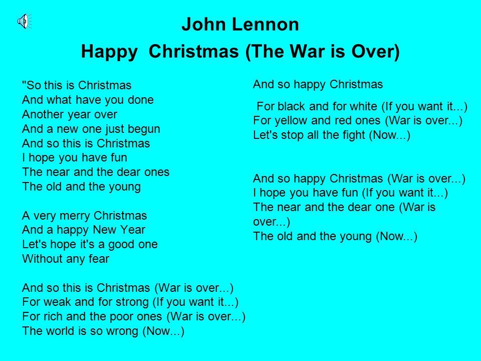 John Lennon Happy Christmas (The War is Over)