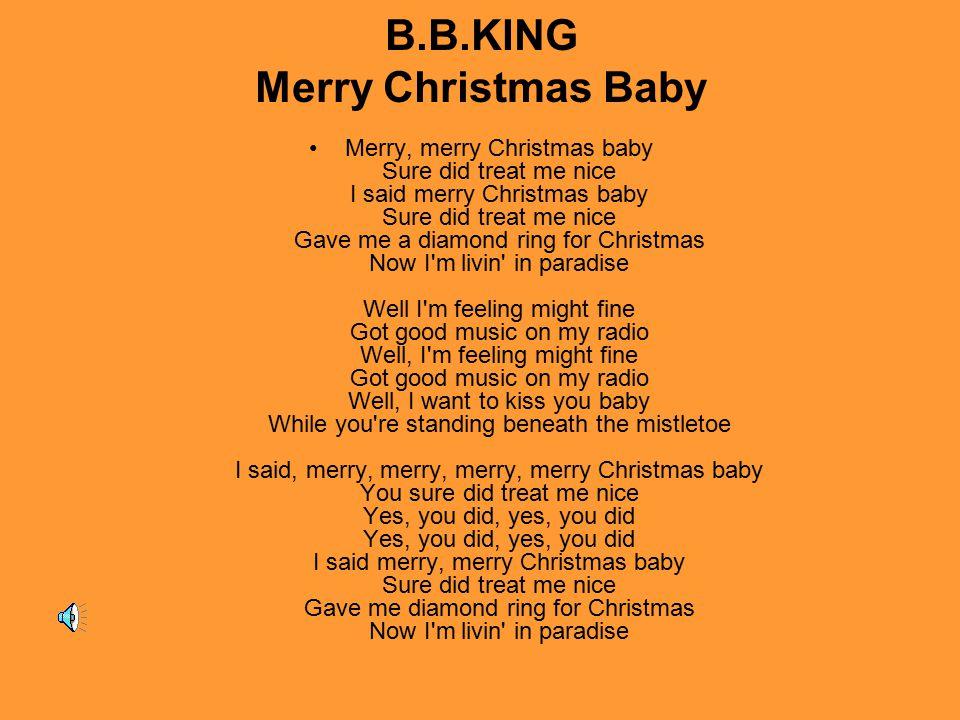 B.B.KING Merry Christmas Baby