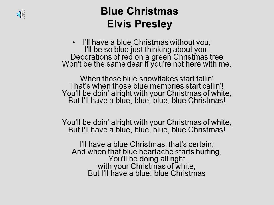 Blue Christmas Elvis Presley