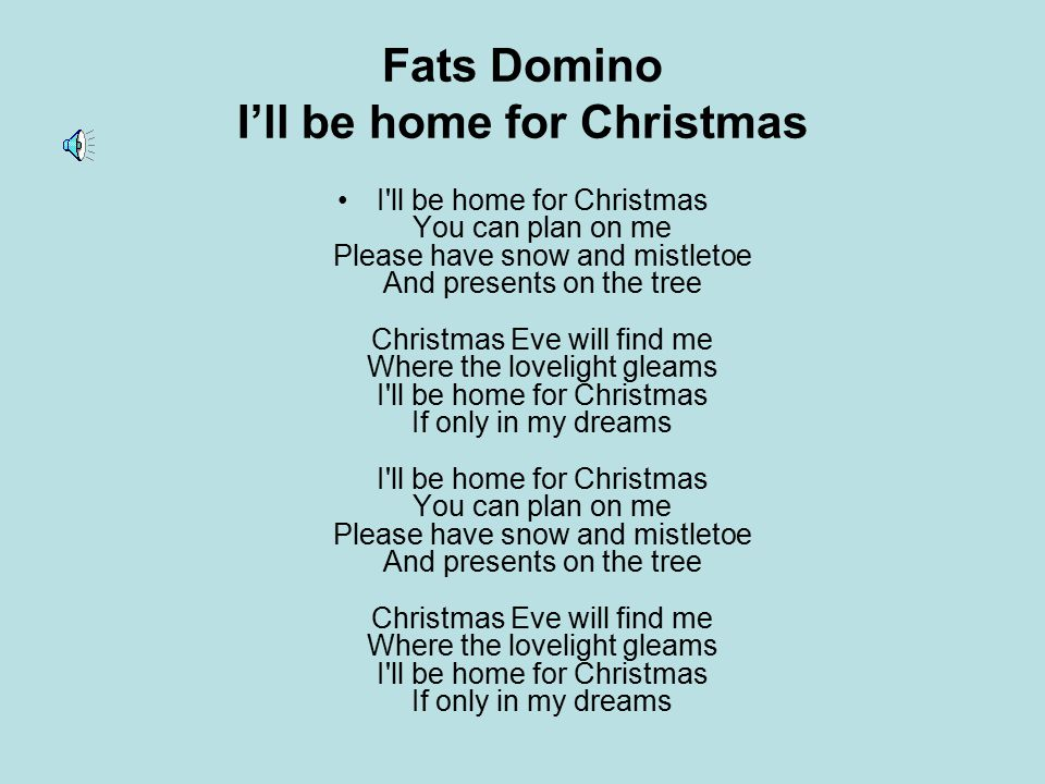 Fats Domino I'll be home for Christmas