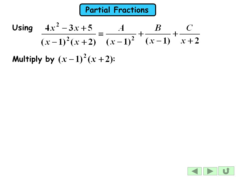 Using Multiply by :