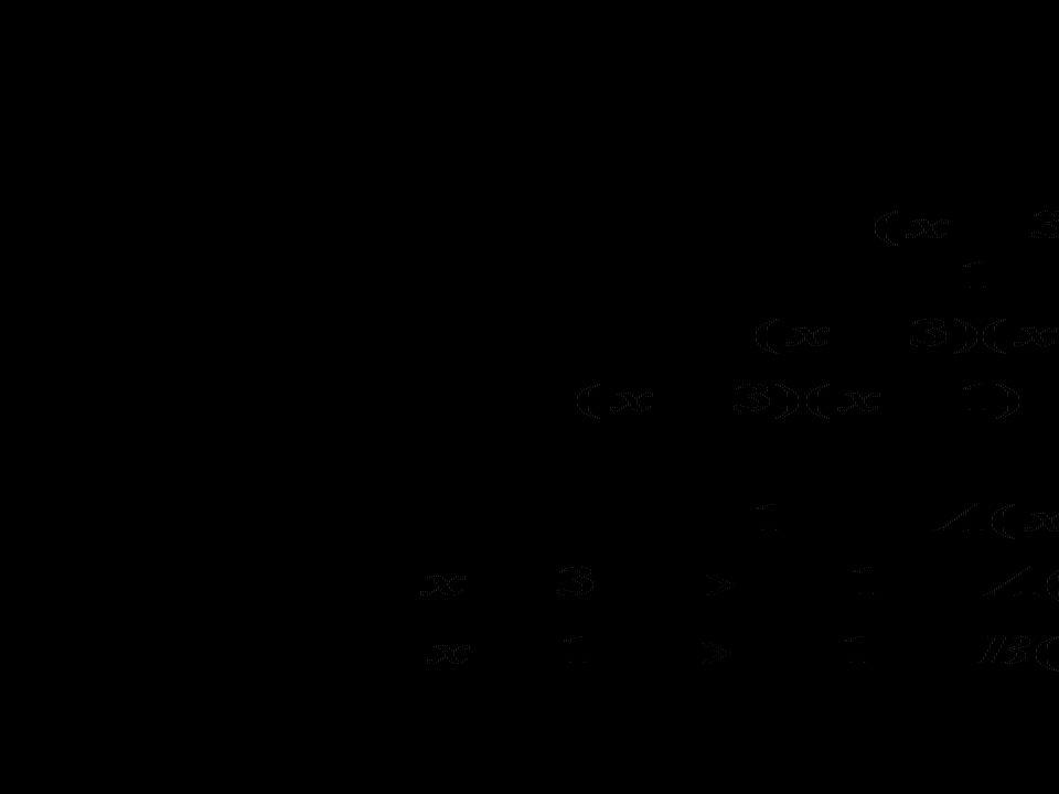 e.g. Express the following as 2 partial fractions.