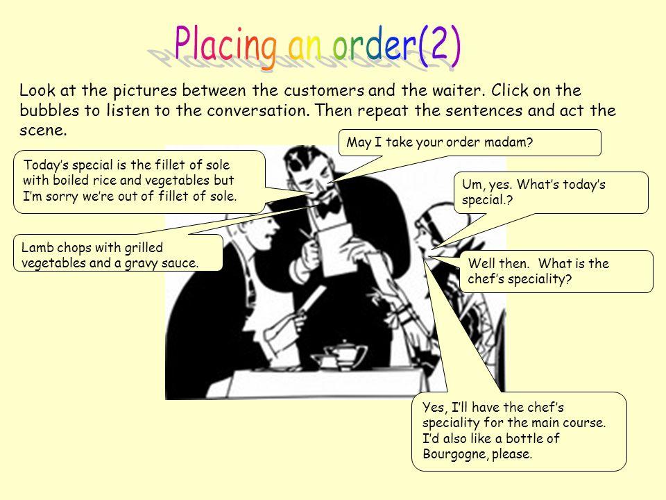 Placing an order(2)