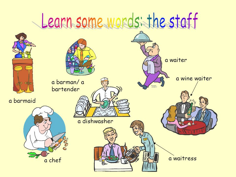 Learn some words: the staff