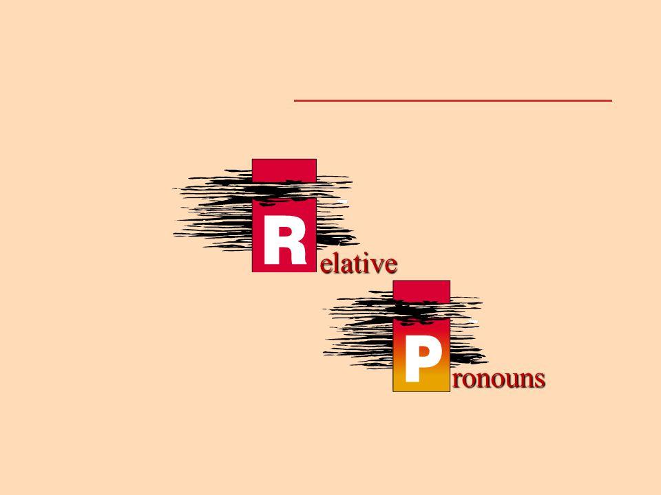 elative ronouns