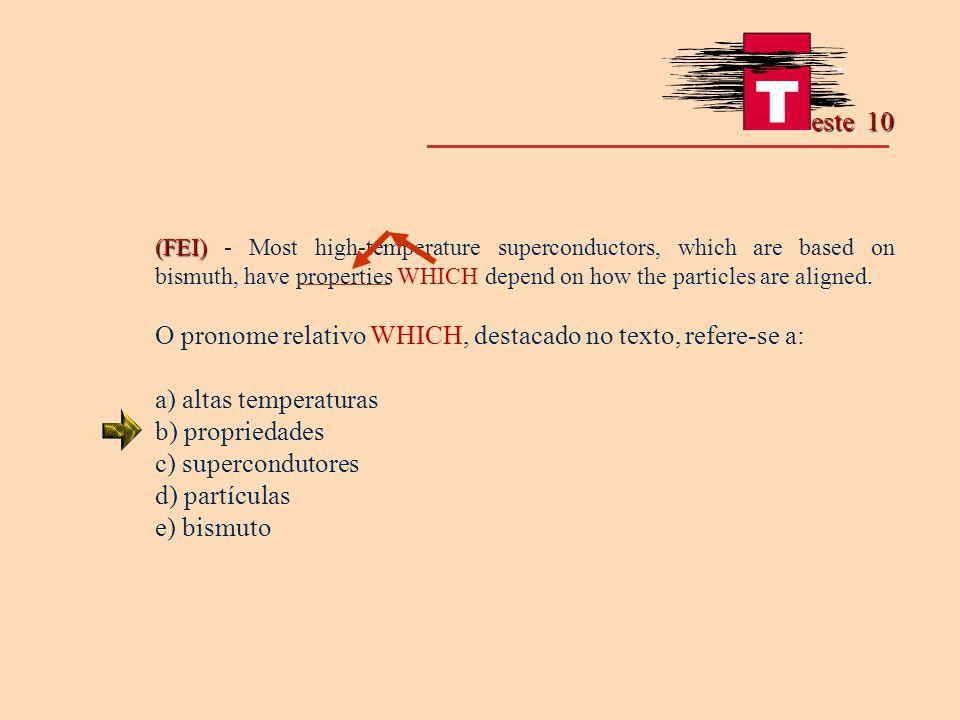 O pronome relativo WHICH, destacado no texto, refere-se a:
