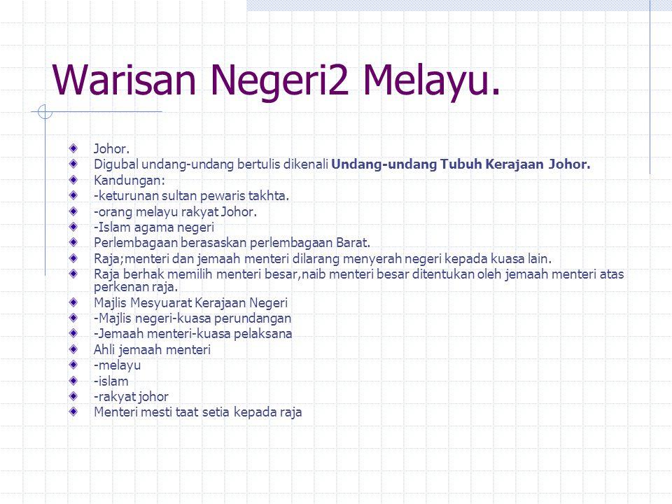 Warisan Negeri2 Melayu. Johor.