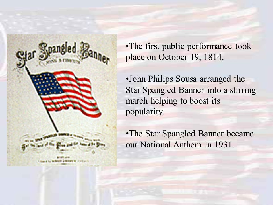The first public performance took place on October 19, 1814.