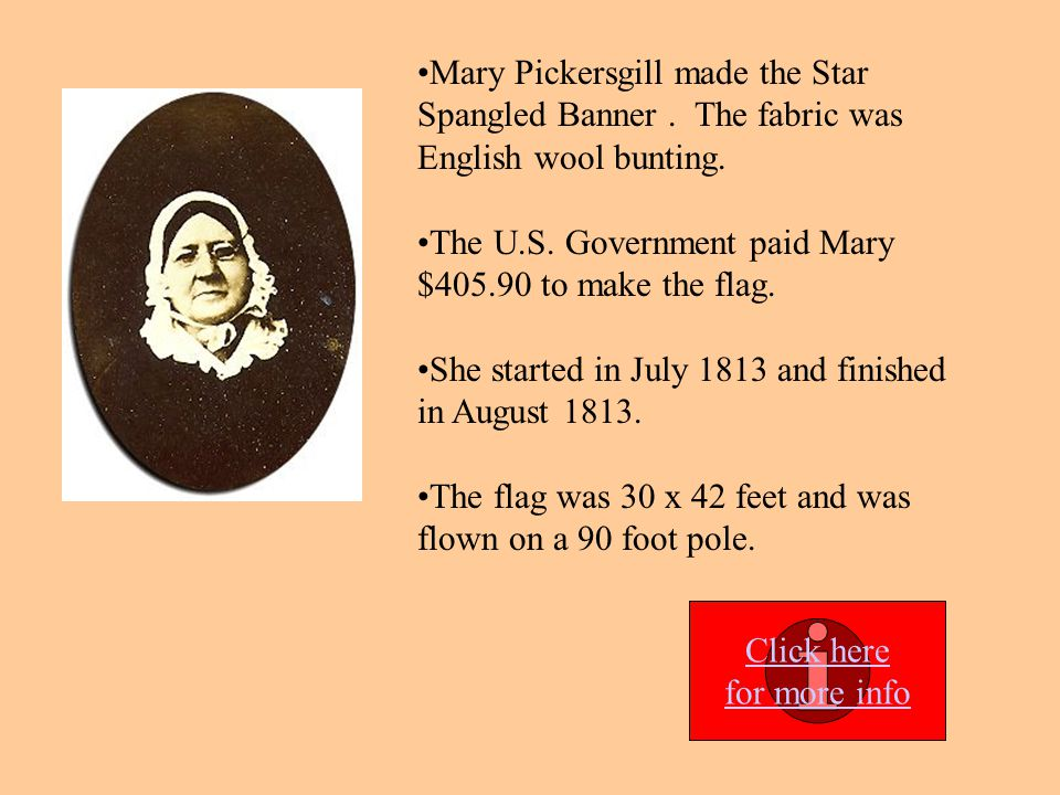 The U.S. Government paid Mary $405.90 to make the flag.