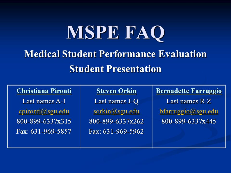 Medical Student Performance Evaluation Student Presentation