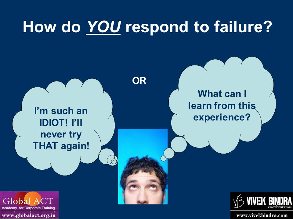 How do YOU respond to failure