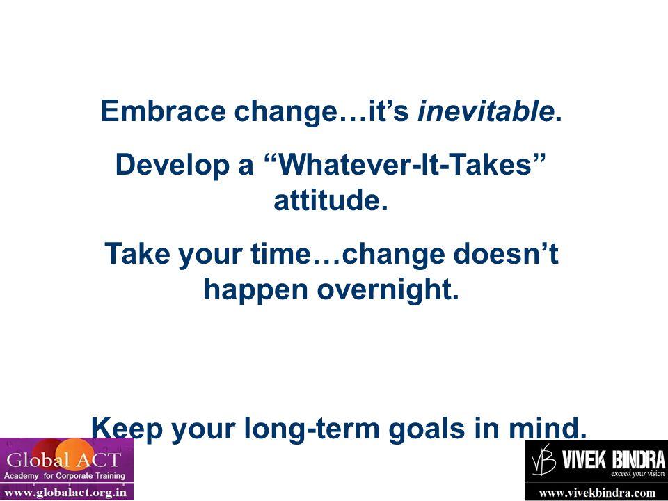 Embrace change…it's inevitable.