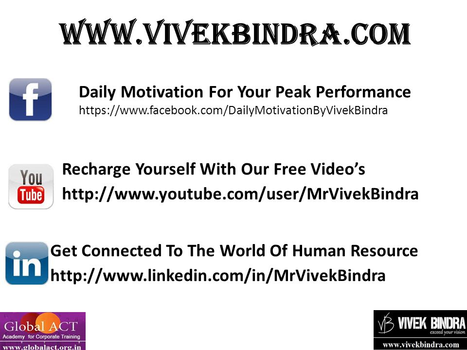 Recharge Yourself With Our Free Video's