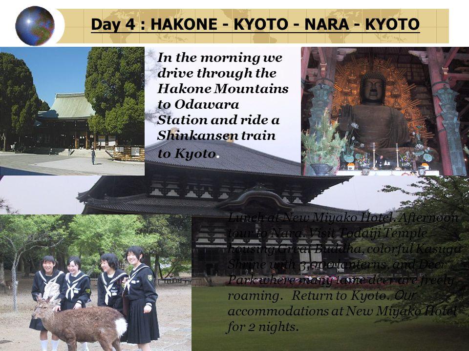 Day 4 : HAKONE - KYOTO - NARA - KYOTO