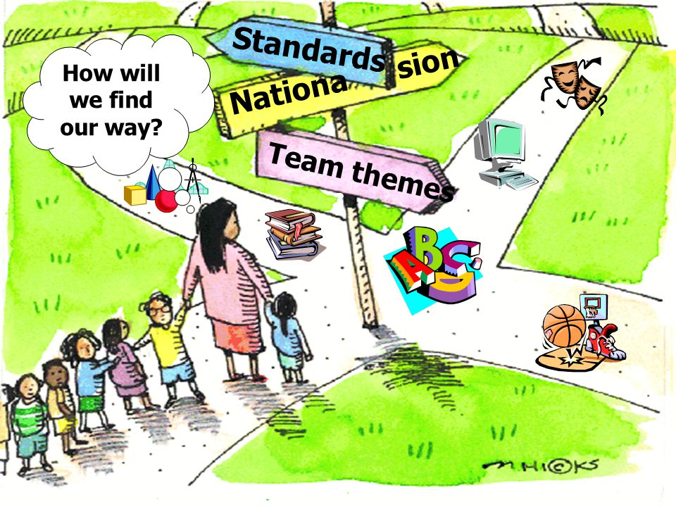 Standards Nationa sion Team themes How will we find our way