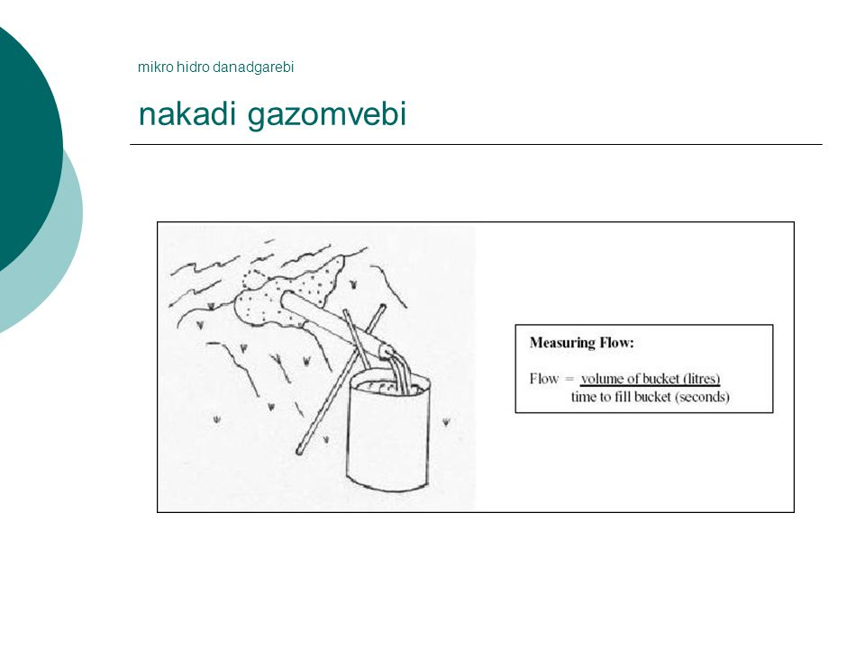 mikro hidro danadgarebi nakadi gazomvebi