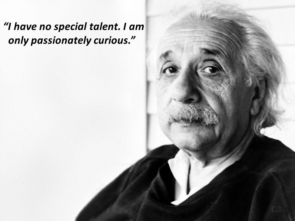 I have no special talent. I am