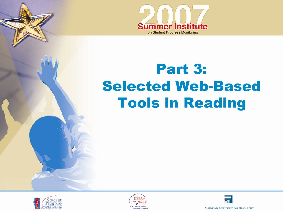 Part 3: Selected Web-Based Tools in Reading