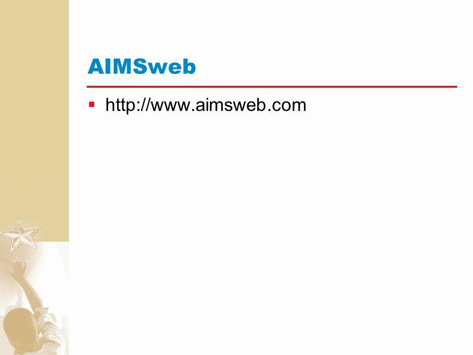 AIMSweb http://www.aimsweb.com