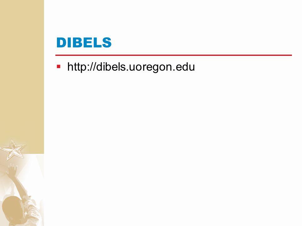 DIBELS http://dibels.uoregon.edu