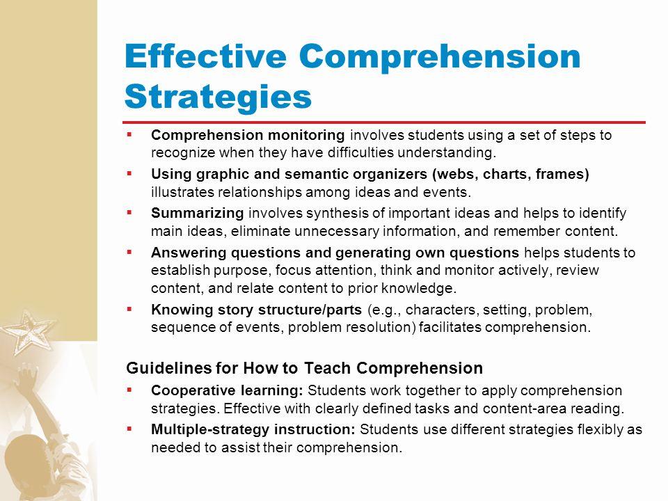 Effective Comprehension Strategies