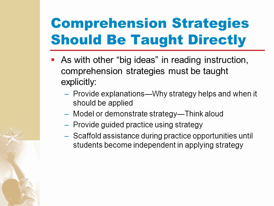 Comprehension Strategies Should Be Taught Directly