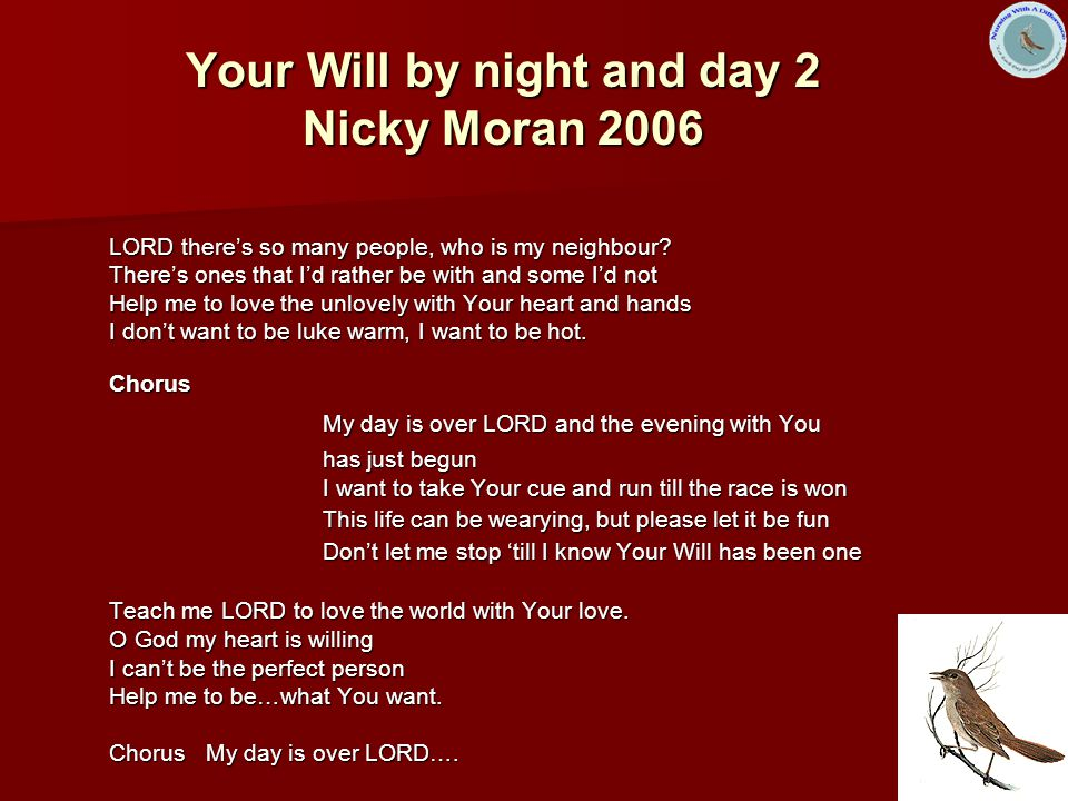 Your Will by night and day 2 Nicky Moran 2006