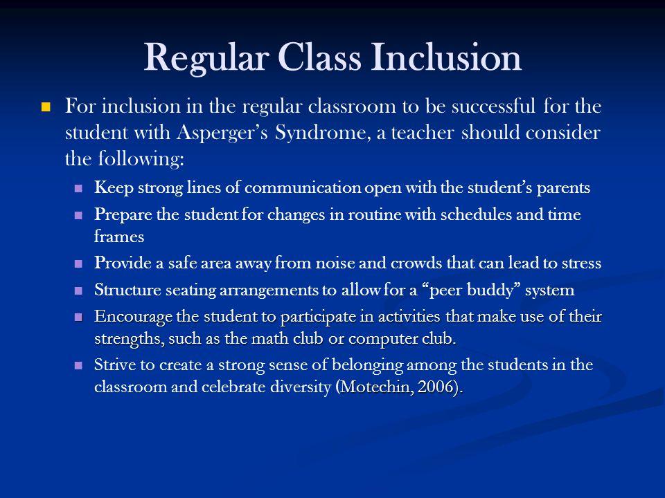 Regular Class Inclusion