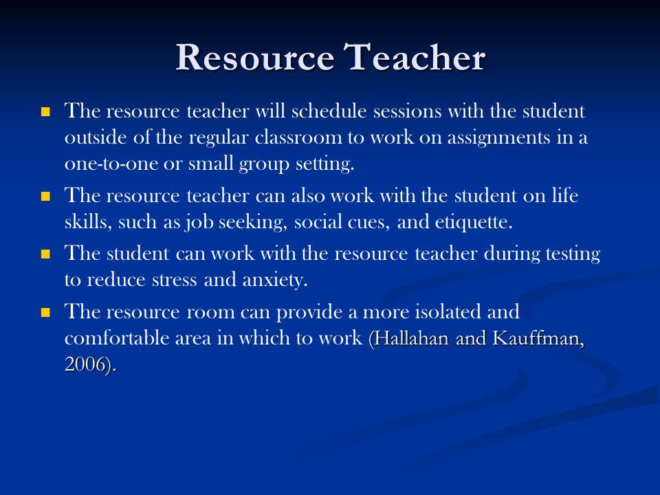 Resource Teacher