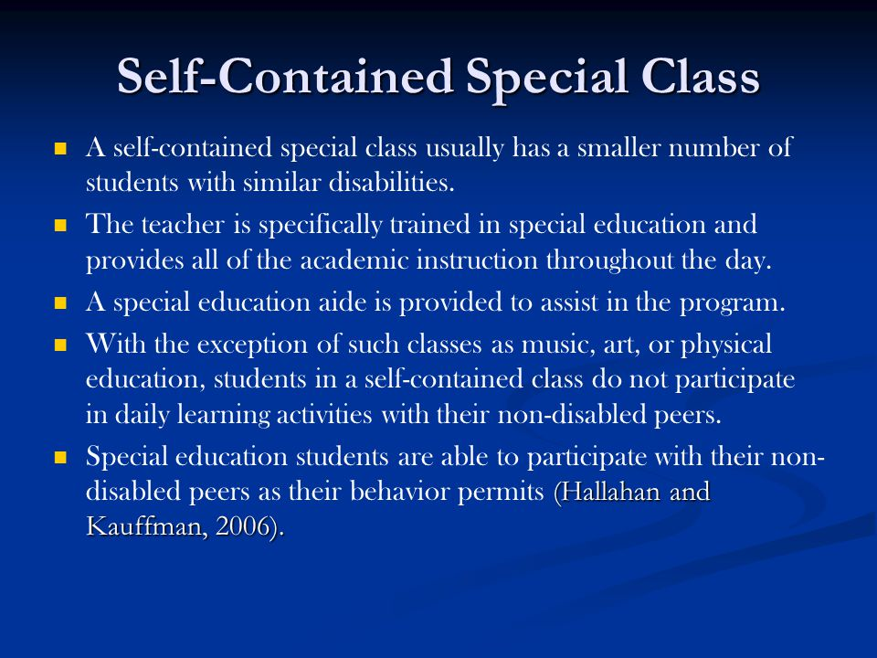 Self-Contained Special Class