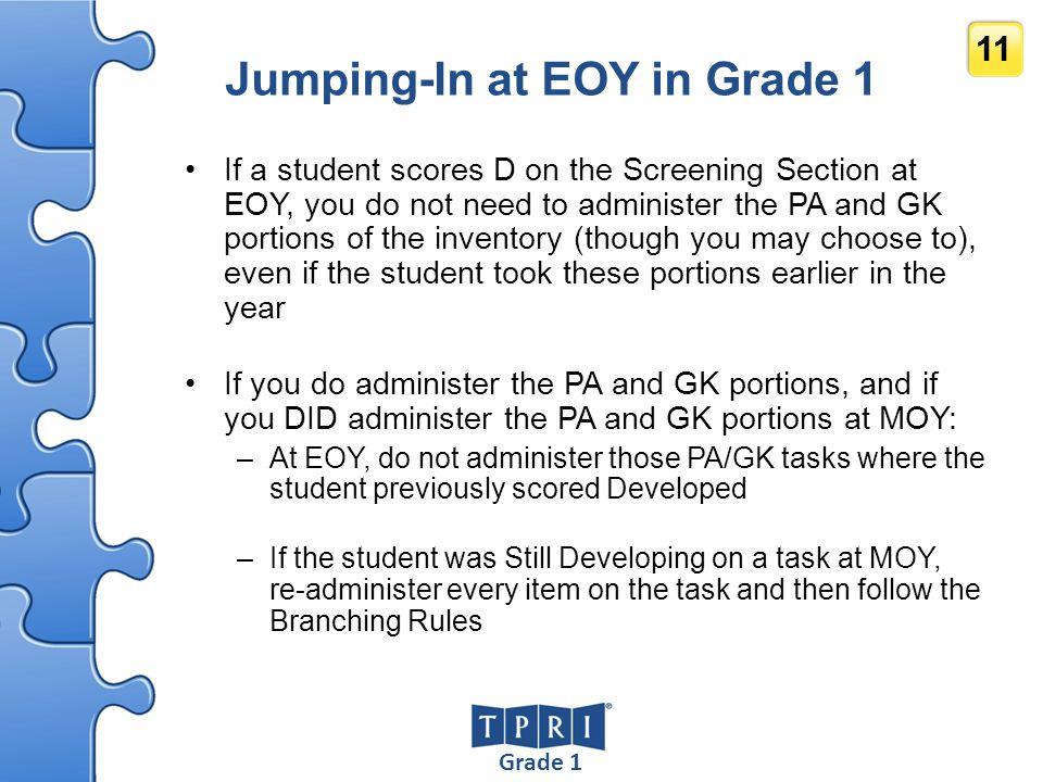 Jumping-In at EOY in Grade 1