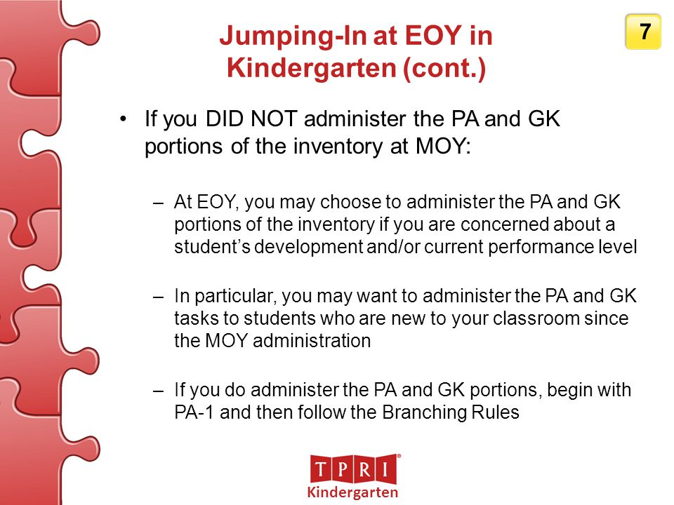 Jumping-In at EOY in Kindergarten (cont.)
